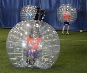 Photos: Bubble soccer at Keva