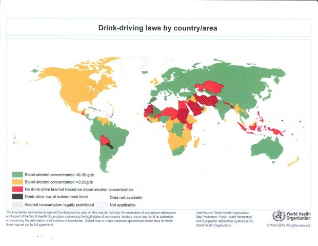 Drunken driving laws by country