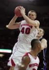 Jared Berggren, UW men's basketball vs. Duke in 2009