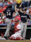 Brewers: Season-high 17 hits help Kyle Lohse win again