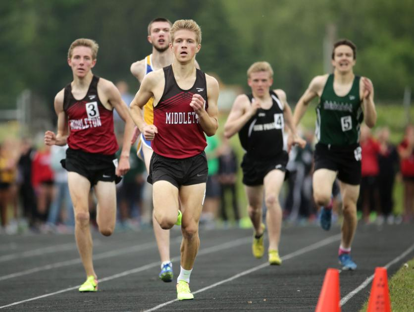Prep track and field: Middleton's Gus Newcomb is in track and field for the long run