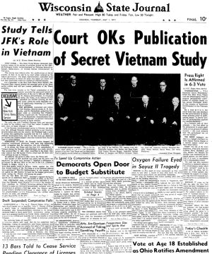 Pages from history July 1, 1971
