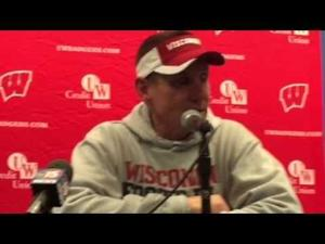 Video: 'It was loud, it was crazy, it was hostile' UW coach Gary Andersen says after winning at Iowa