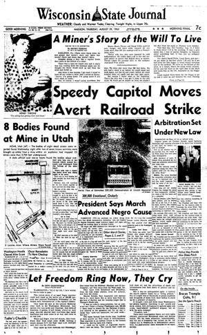 Pages from history Aug. 29, 1963