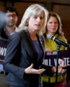 Mary Burke seeks to broker 'an end to divisiveness'