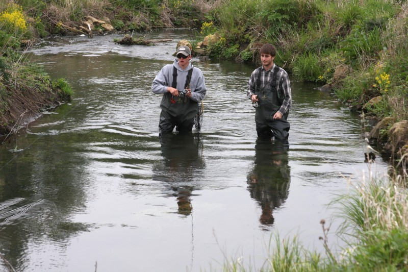 Jerry davis gordon creek is worth a peek outdoors for Wi fishing season