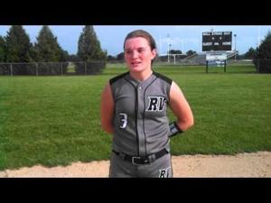 Video: River Valley catcher Taylor Briehl on catching her cousin Kylie Hoffman