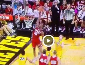 Video: Badgers' Nigel Hayes with a putback dunk at Iowa