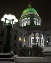 Capitol dome green and gold 2