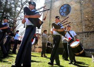 Photos: St. John's Northwestern Military Academy bagpipe band