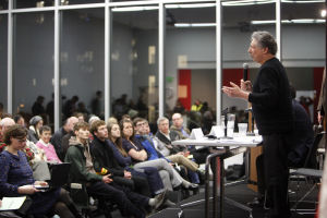 Paul Soglin and Scott Resnick address respect, admiration at Cap Times candidate forum