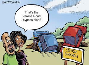 'That's the Verona Road bypass plan?' -- Chris Van Wagner wins this week's You Toon caption contest