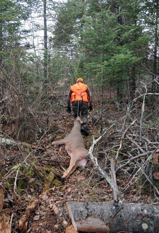 Patrick Durkin Hauling Deer S A Drag But There Are No