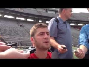Video: Badgers' Tanner McEvoy says he's ready to battle for starting QB position
