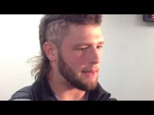 Video: Badgers LB Vince Biegel talks defense, hair statement, injury status
