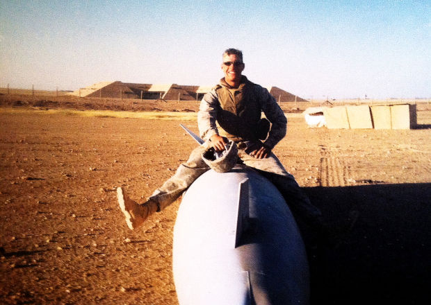 Eric Pizer in Iraq