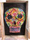 Crayon skull