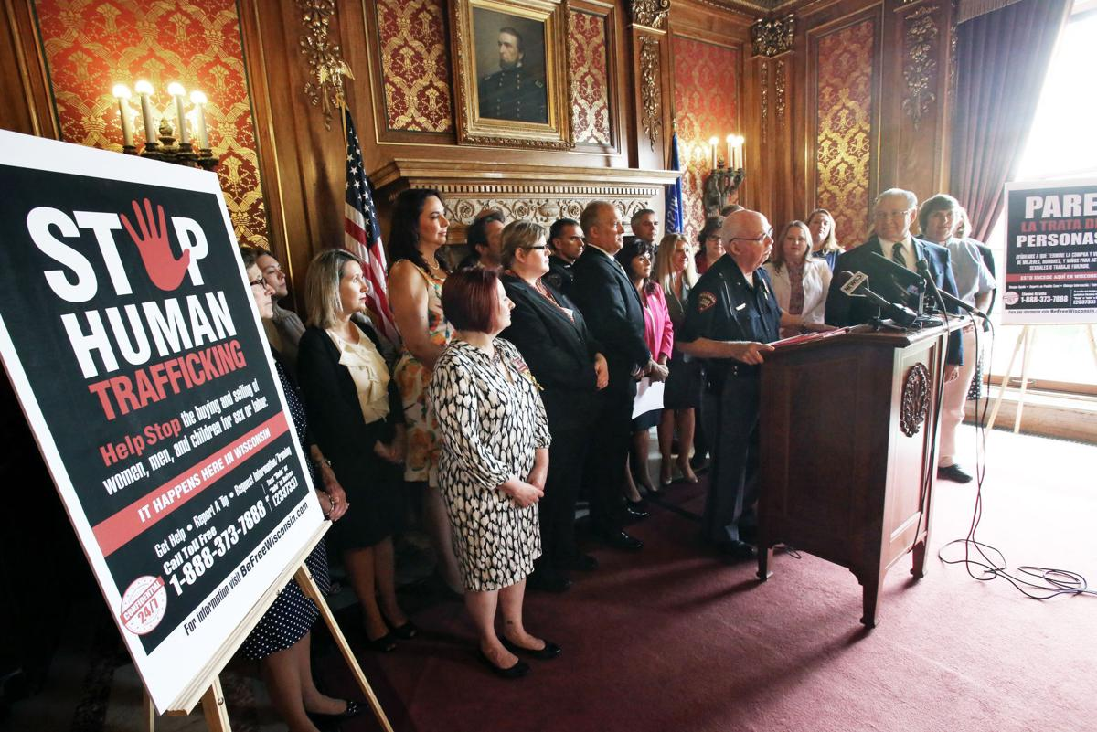 Human trafficking news conference