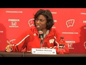 Video: 'One game at a time' for UW's Bobbie Kelsey at Big Ten tourney