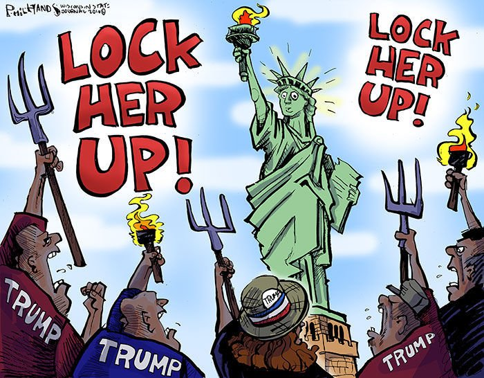 Image result for trump lock her up