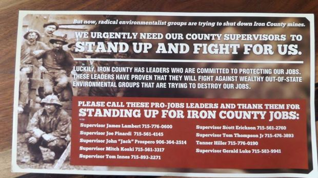 Koch brothers group pushes mine issue in iron county for Koch 6 backjournal