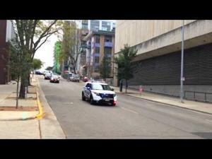 Raw video: Michelle Obama's motorcade arrives in Madison