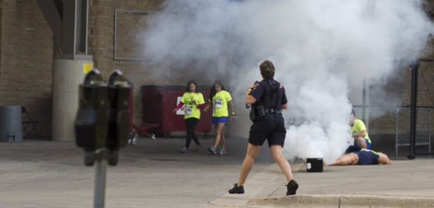 Simulated explosion at Camp Randall Stadium tests disaster preparedness
