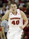 Jared Berggren file photo with Badgers