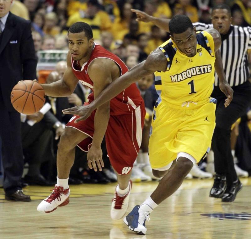 Jordan Taylor, Darius Johnson-Odom, UW men's basketball at Marquette