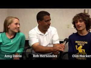 Video: A chat with WSJ/WPZ Athletes of the Year Amy Davis & Olin Hacker