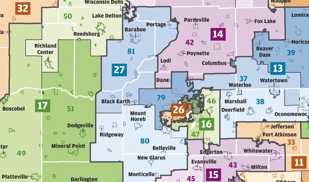 Wisconsin voting district maps
