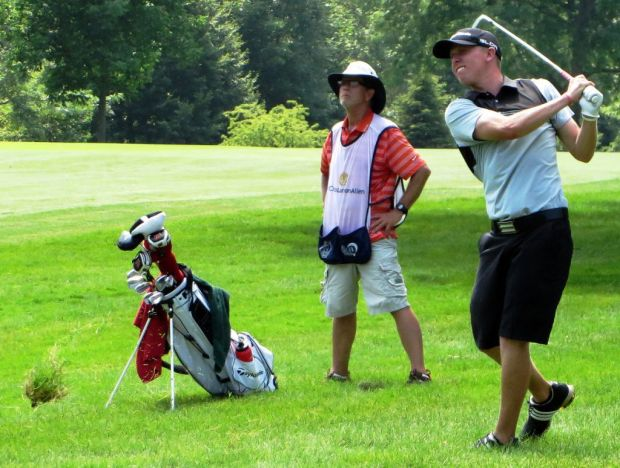 State Amateur golf: Badgers assistant coach Robbie Ziegler holds onto lead after windy second round