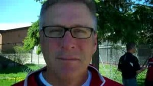 Badgers assistant softball coach Randy Schneider