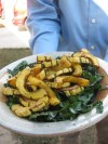 Grilled delicata squash with kale