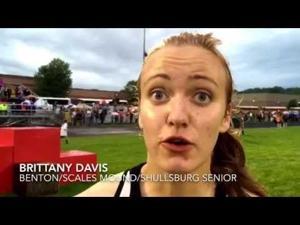 Video: Big night at WIAA D3 Bangor sectional for Benton co-op's Brittany Davis