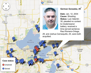 Interactive map: Dane County homicides since 2004