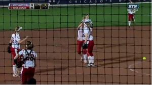 Double play caps Badgers' rally past Northwestern in softball