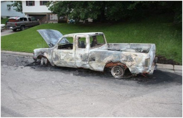Image result for Burned out pickup