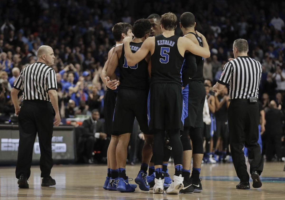 Tom oates look for duke to win ncaa title wisconsin for 979 the beat number