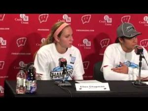 Video: UW volleyball seniors after closing out B1G title outright with sweep of Purdue