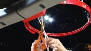 Bo Ryan Cutting down net after West Regional