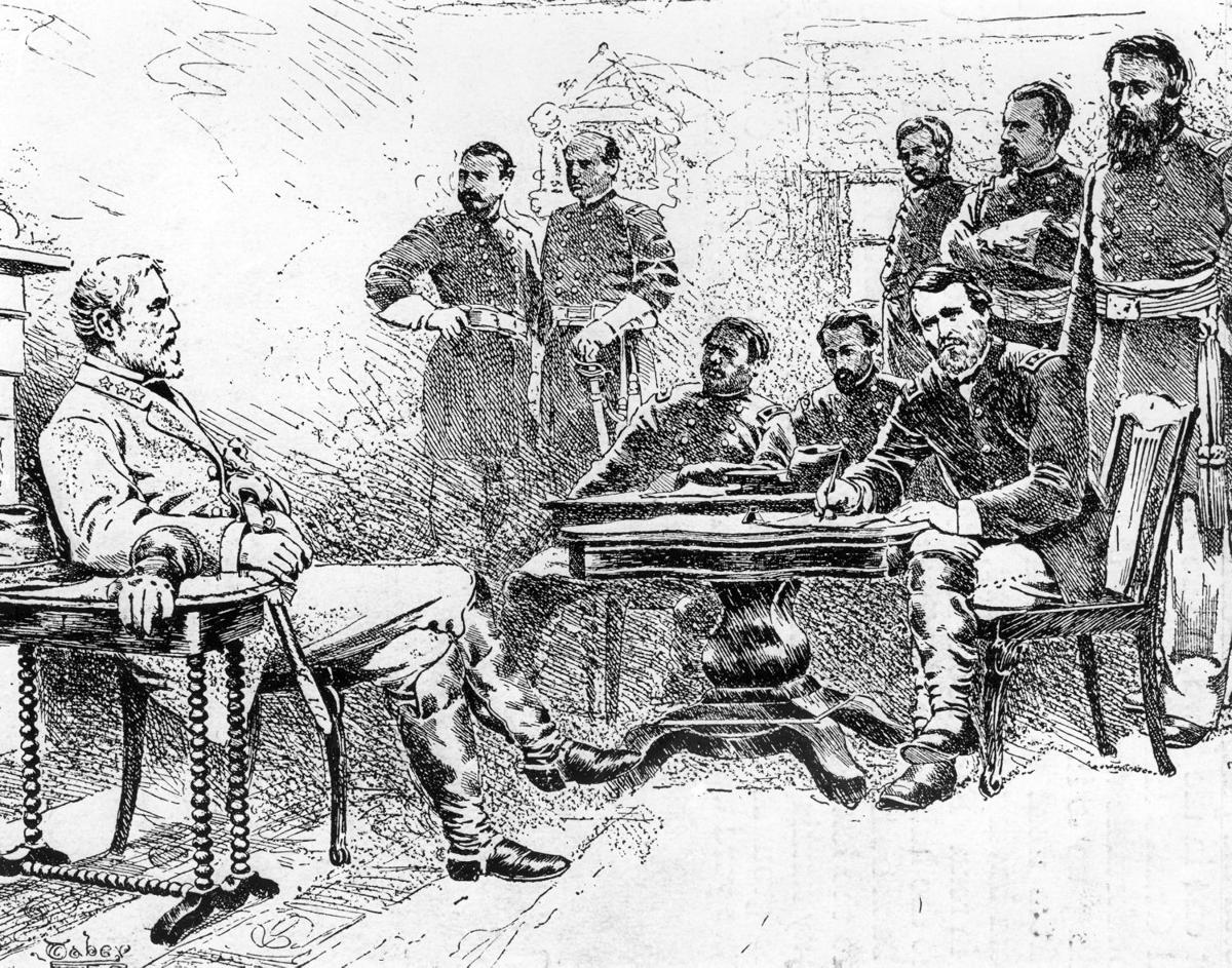 """robert lee saved countless lives surrendered at appomattox Lee surrenders  """"it would be useless and therefore cruel,"""" robert e lee  remarked on the  at the home of wilmer mclean in the village of appomattox  court house, virginia  robert e lee, officer of the confederate army  we  had nothing on which to begin life over again, but we were young and."""