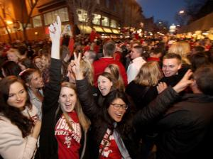 Photos: Wisconsin Badgers fans celebrate NCAA win over Arizona