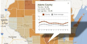 Wisconsin unemployment: See trends by county