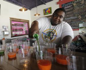 SuperCharge Foods raises microgreens and mixes smoothies on East Washington Avenue