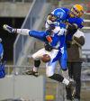 WIAA Division 5 football: Amherst's Brandon Piotrowski defends pass to Lancaster's Brett Snider