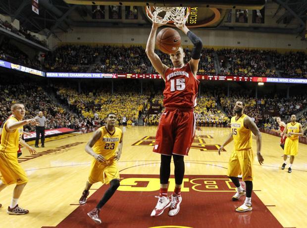 Badgers men's basketball: Frank Kaminsky powers win over Minnesota for outright Big Ten title
