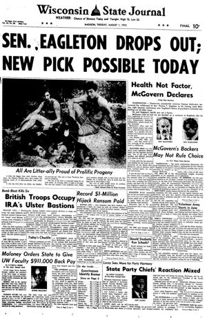 Pages from history Aug. 1, 1972