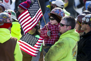 Photos: Right-to-work protesters rally Saturday at Capitol