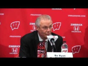UW coach Bo Ryan on Tra Jackson's recent play
